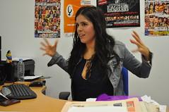 Antonia Nogales, durante la entrevista