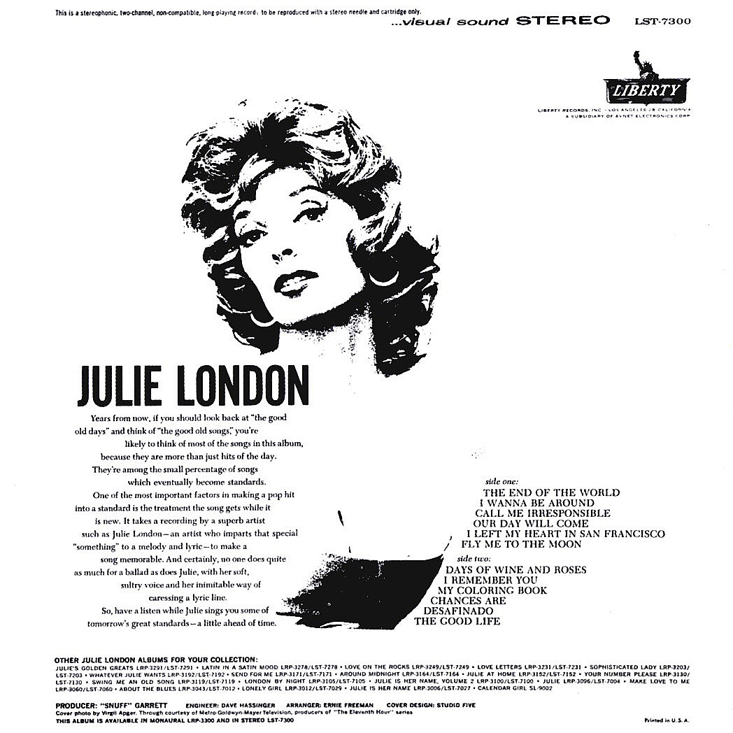 Julie London - The End of the World