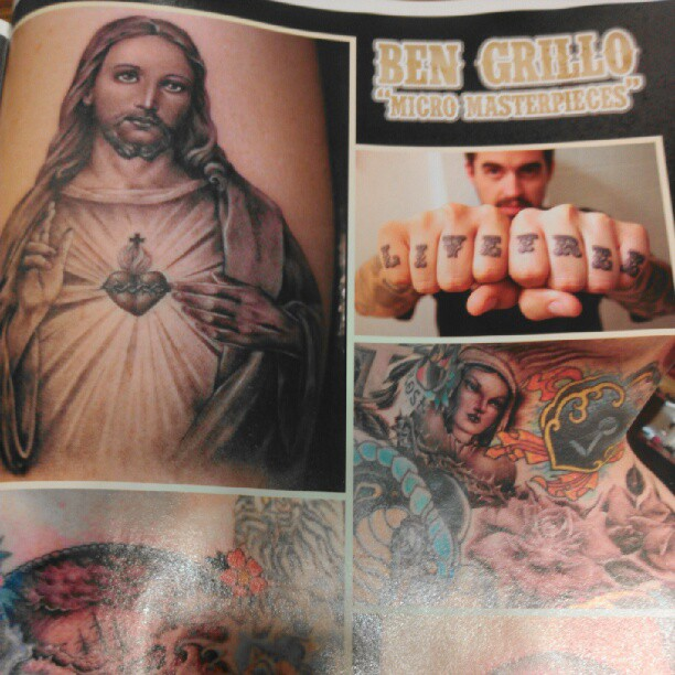 My #LiveFree knuckles are in Tattoo Life Magazine's feature on the amazing @bengrillo