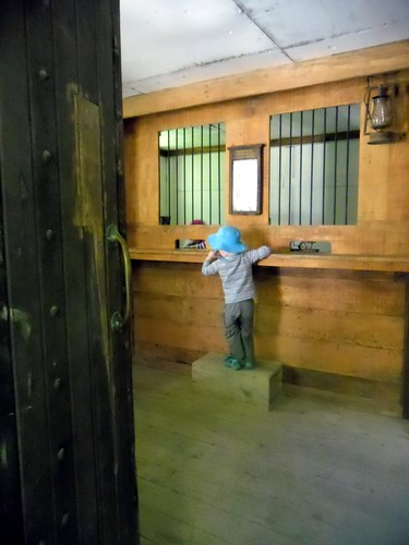 Playing in the old bank