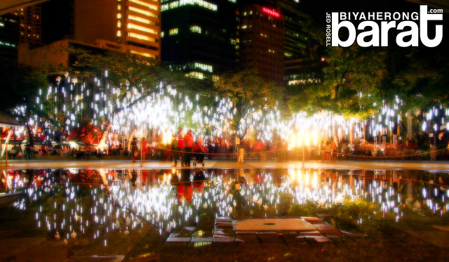 Ayala Triangle Park Christmas Lights and Sound Display 2011 City