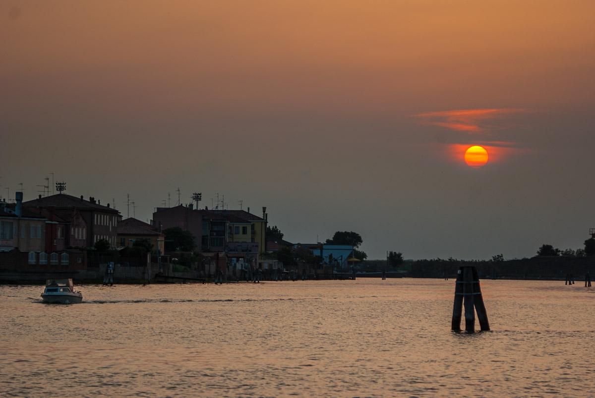 Atardecer sobre la laguna Veneta