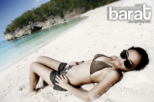 sun bathing in puting buhangin beach kwebang lampas pagbilao quezon
