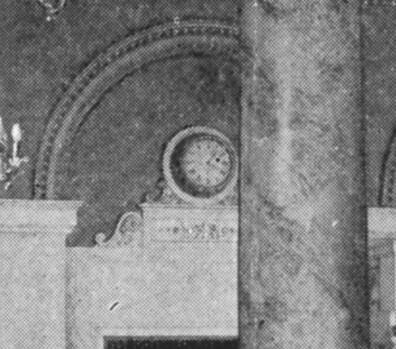 King Edward Hotel clock detail circa 1920