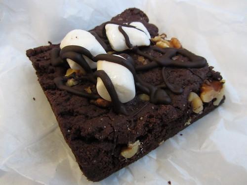 vegan rocky road chocolate brownie