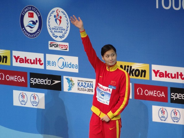 Ying Lu on the Istanbul 2012 medal podium