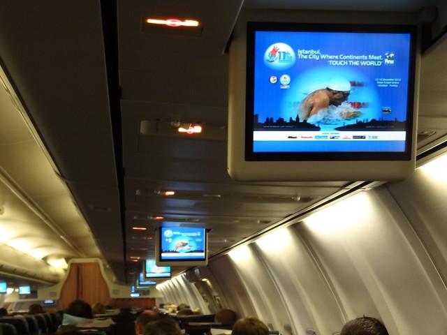Istanbul 2012 World Championships ads on board Turkish Airways