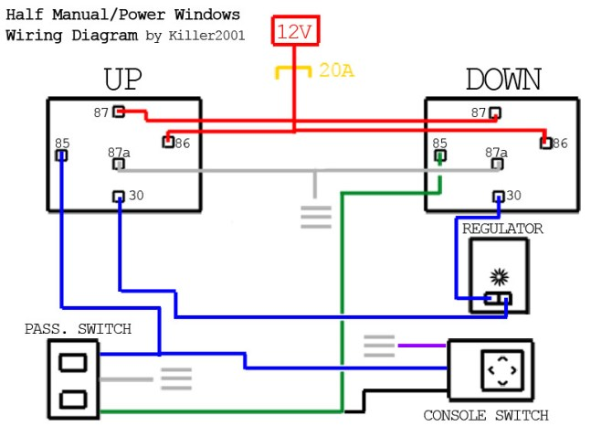 240sx power window wiring diagram  4 star trailer wiring