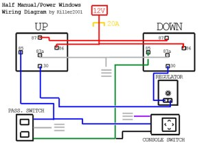 Half ManualPower Window Wiring Diagram | by Killer2001