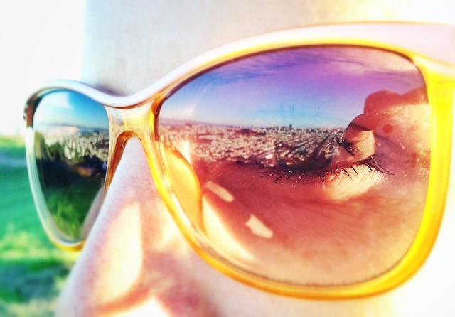San Francisco in Steffi's sunglasses