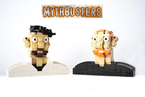 Adam Savage & Jamie Hyneman Mini Busts by Joshua Christenson