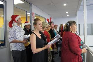 Waiata group at Christmas