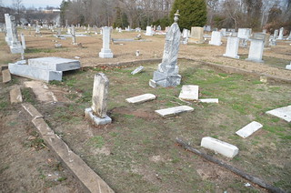 Damaged Headstones - Ebenezer Methodist