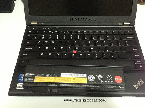 ThinkPad X230 with 29++ 9 cells battery