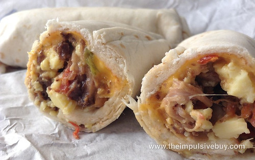 McDonald's Steak & Egg Burrito Closeup