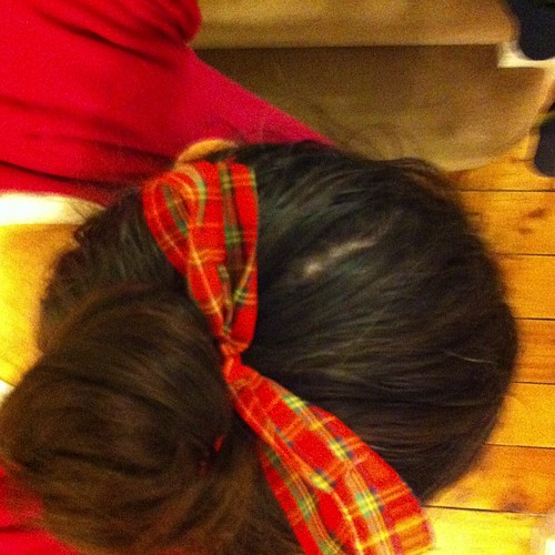 #tartan bow for #burnsnight at #connectgroup. Well it was this or my tartan pyjamas!
