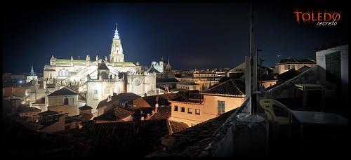 Panorámica del casco antiguo de Toledo desde una vivienda en la cuesta de los Pascuales.