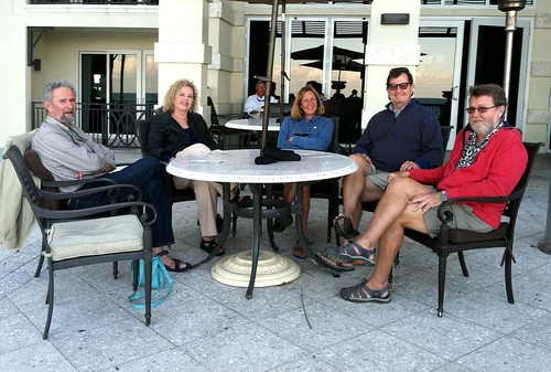Happy hour at the beach with Marty and Ellen, Pam and Bob