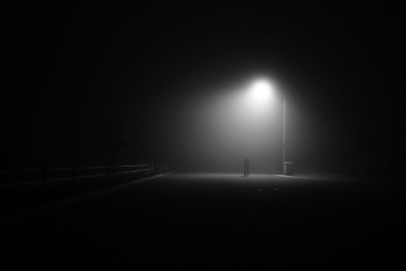Foggy Lamp post