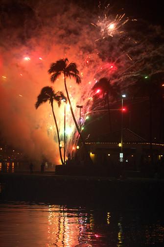 Aloha Tower fireworks