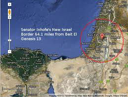 Israel's new border as proposed by James Inhofe