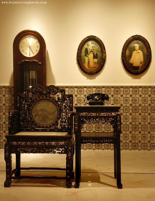 Hup Soo Ee Black Wood Chair IN Peranakan Museum