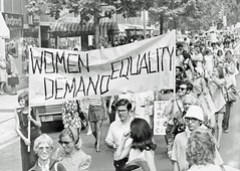 Demonstration for Women's Rights: 1970