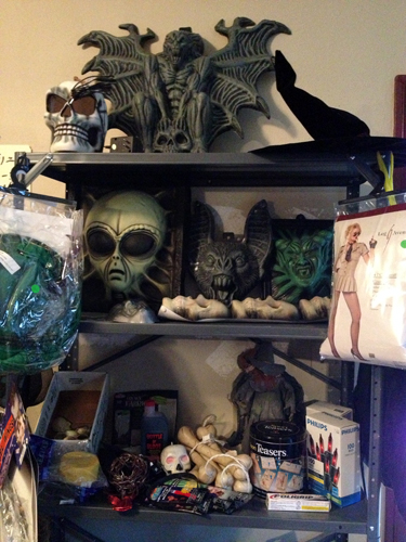Halloween shelf