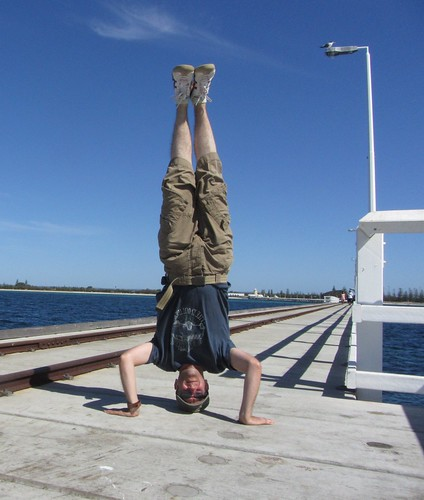 13. busselton jetty headstand