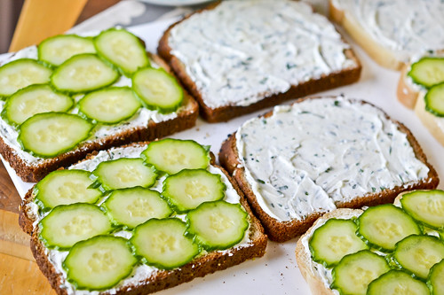 Herbed Goat Cheese Sandwiches 8