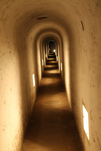 Inside the small fortress' corridors