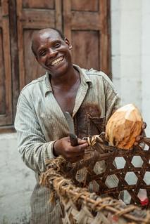 Man who sells coconuts