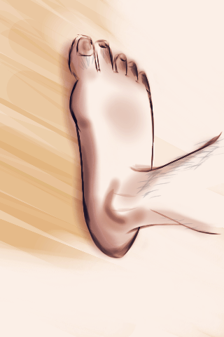 "Tutorial - ""My Right Foot"" (#6: Project 365 Sketches)"
