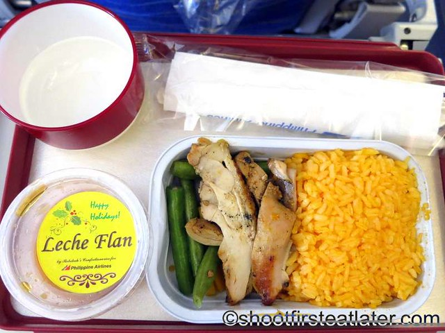 Philippine Airlines economy meals - chicken inasal