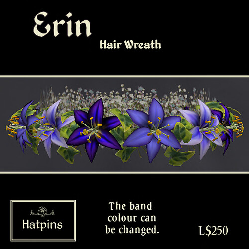 Erin - Hair Wreath - Dusk Lilies - copy_mod