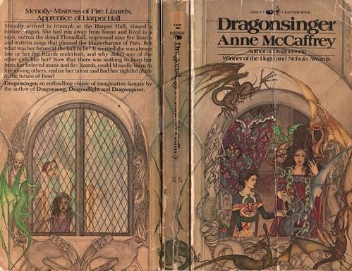Dragonsinger by Anne McCaffrey. Bantam 1978. Cover artist Elizabeth Malczynski