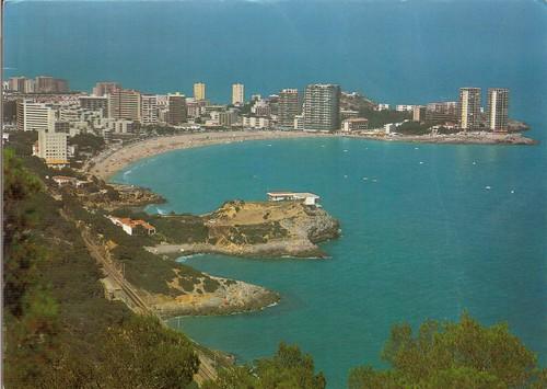"""Playa de la concha desde """"el balcó"""". Aprox 1985"""
