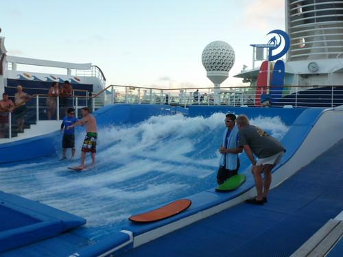 11-15-12 St. Maarten 42 - Wave machine on cruise ship