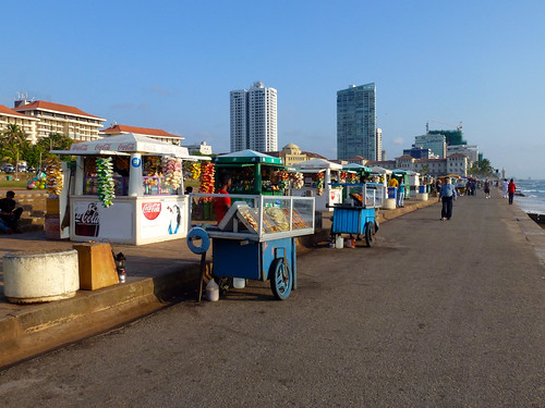 Food stalls on Galle Face Green