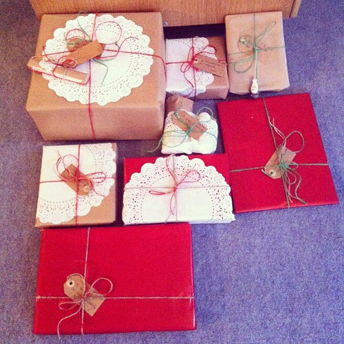 Gift wrapping. My favorite part of the holidays