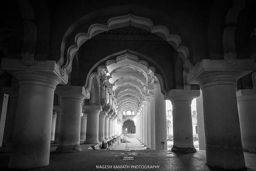 Pillars of Thirumalai Nayakkar Palace