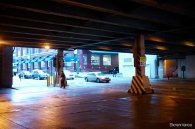Dark underpasses discourage walking