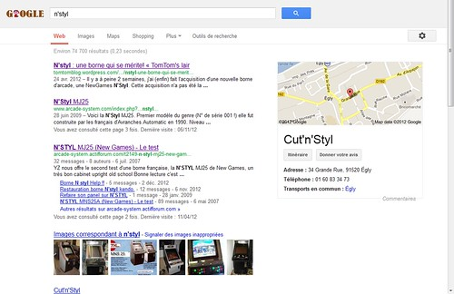 recherche Google N'Styl