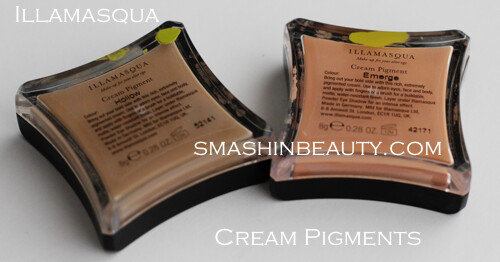 Illamasqua Cream Pigment Emerge Hollow Swatches Review Recenzija Illamasqua kremasti pigment
