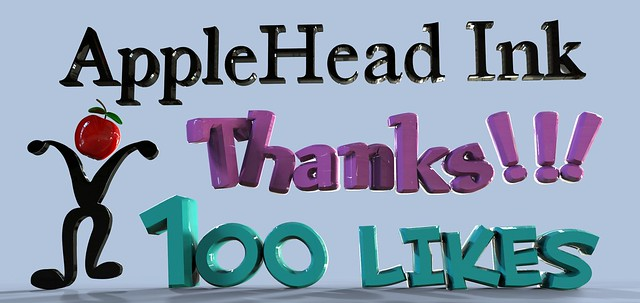 100 likes On Facebook  thanks. Photo & Design By : AppleHead Ink