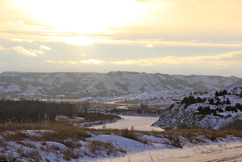 January 25, 2013. Theodore Roosevelt National Park in January