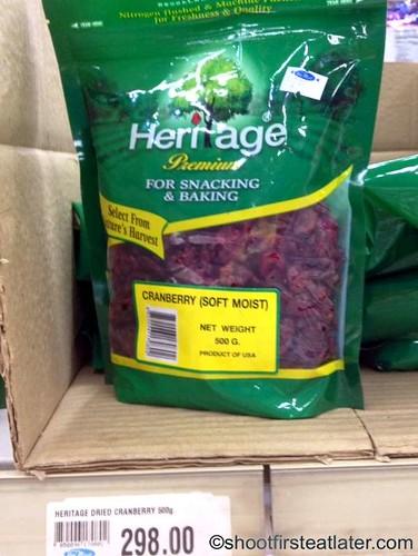 Heritage dried cranberries