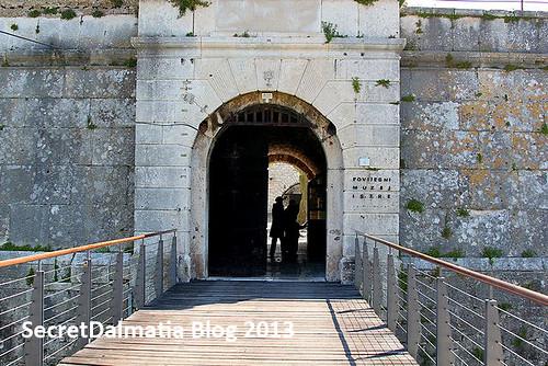 Over the former drawbridge...