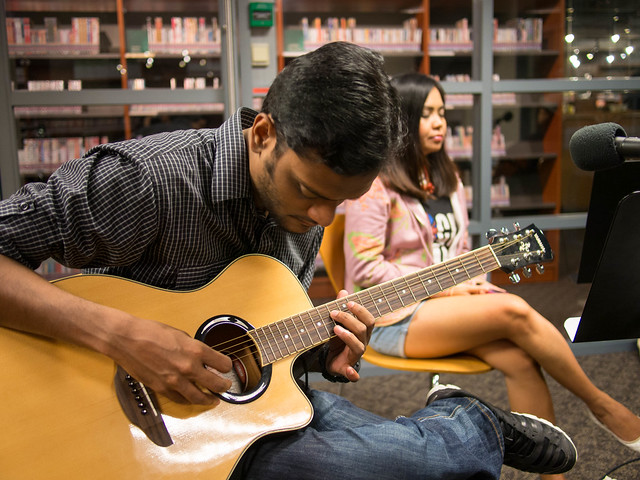Vijith on the guitar