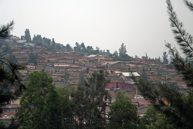 view of Kigali from the Museum